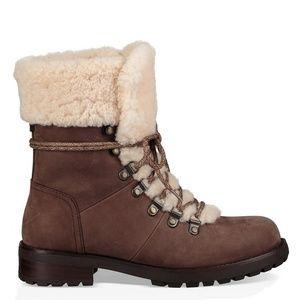 UGG Shoes - NEW UGG Fraser Lace Up Block Heel Boots 6.5 NIB